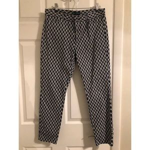 GAP slim city navy crop pants size 4